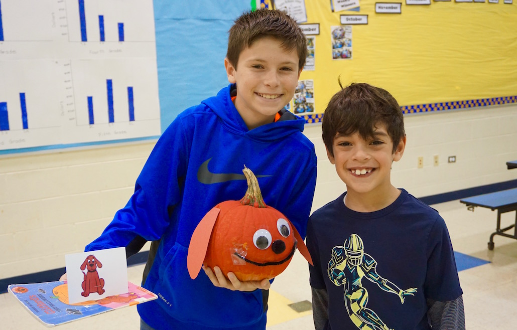 "<h1>Character Pumpkin Buddy Project</h1> <p>Fifth- and first-grade buddies at GMS had a lot of fun bringing main characters from favorite picture books to life … in pumpkin format.<br />  <br /> <strong><a href=""http://gms.bps101.net/news/character-pumpkin-buddy-project"">Read more</a></strong></p>"